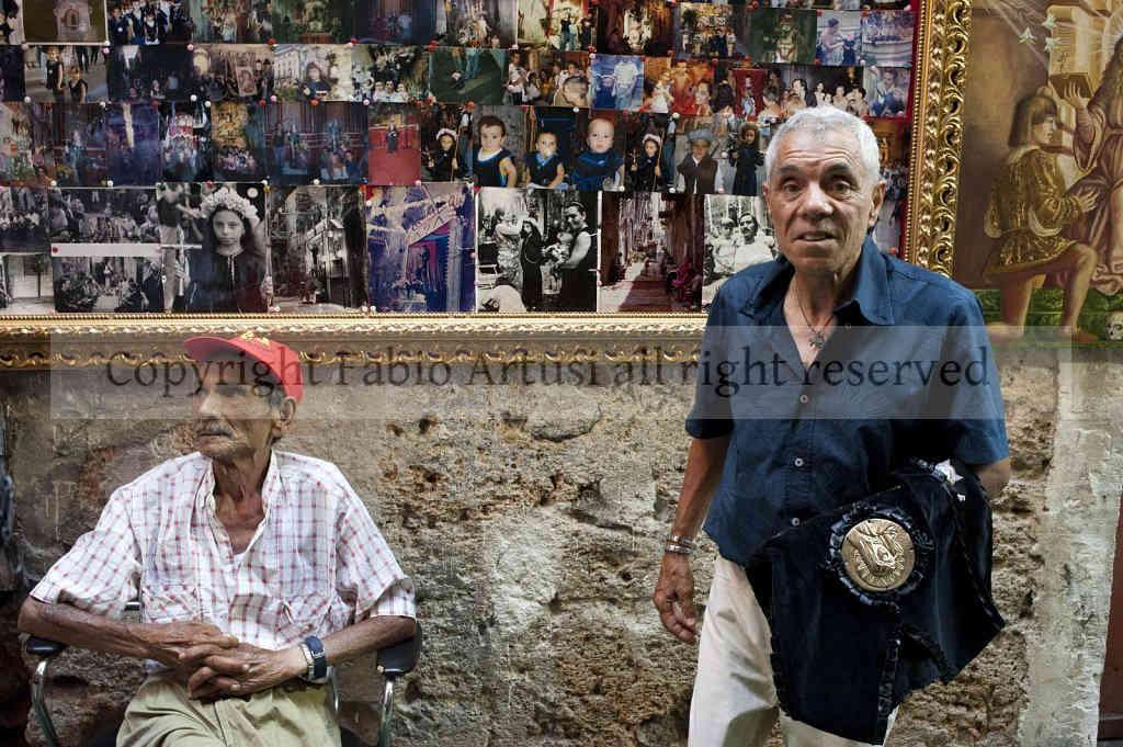 ' Festino ' of Saint. Rosalia. Vicolo - Street Brugnò, Palermo. Sicily