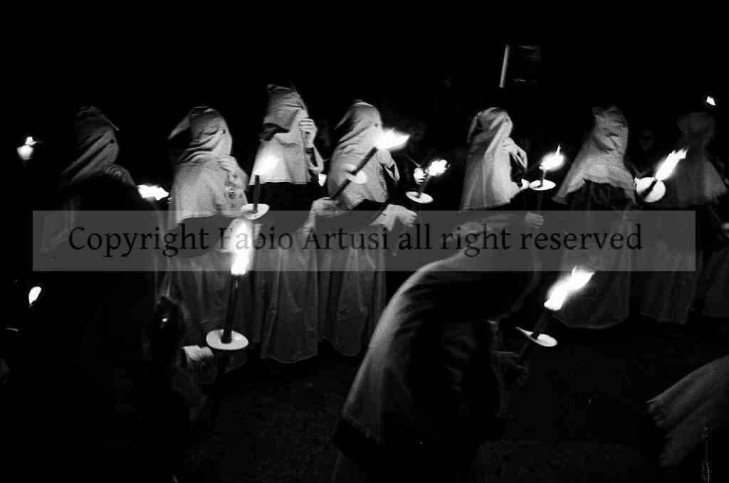 Catholic procession in the Sicilian-Albanian country of Mezzojuso. Sicily